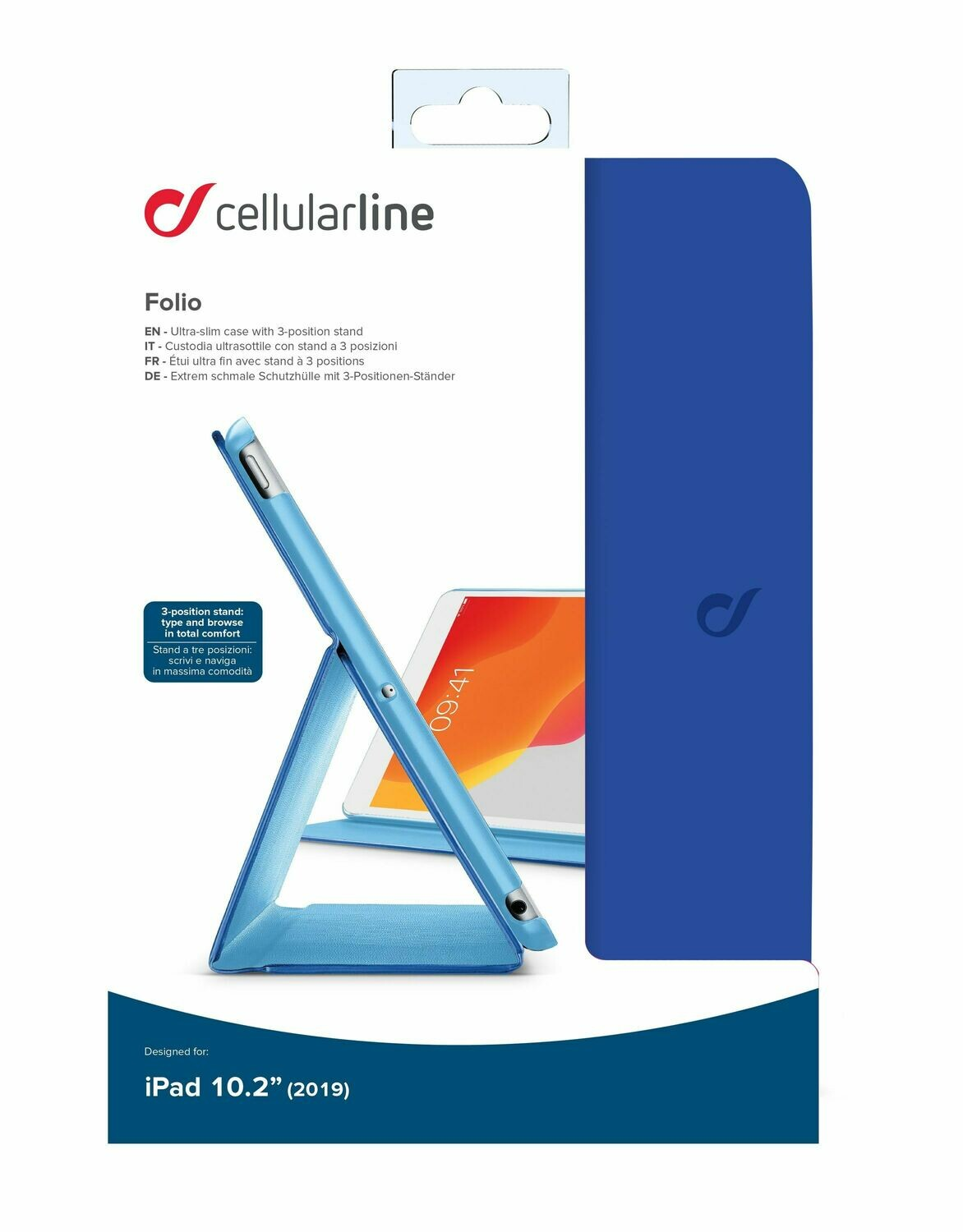 Cellular Line iPad 10,2 (2019-2020) Slim Stand Blue