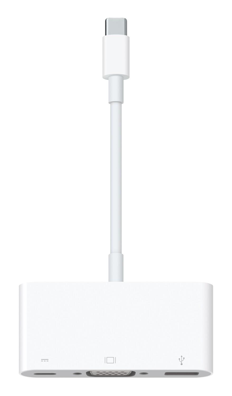 Koppelstuk USB-C (M) - VGA (F), USB-A (F) (Apple Origineel)