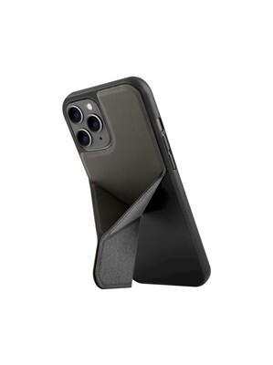 Uniq - iPhone 12/12 Pro Hoesje stand up grijs