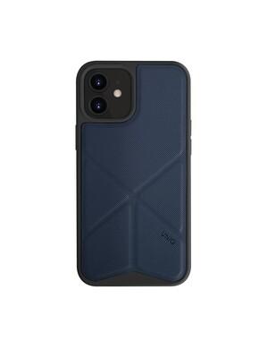 Uniq - iPhone 12/12 Pro Hoesje stand up blauw