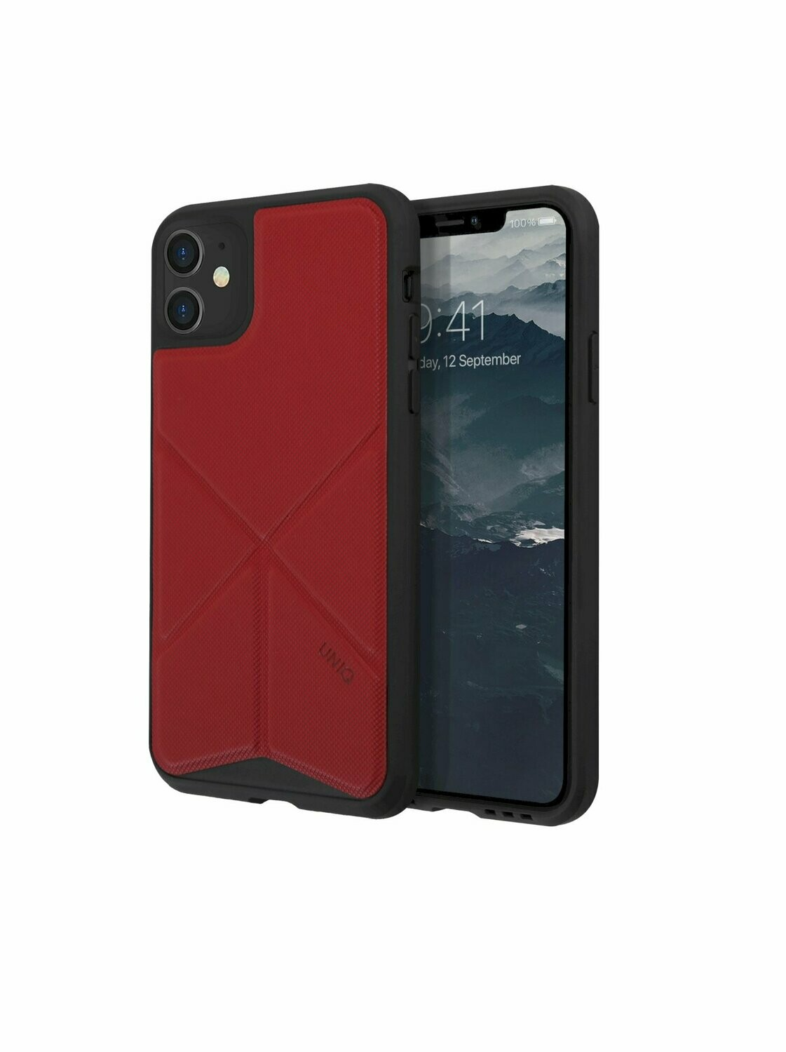 Uniq - iPhone 11 Hoesje stand up rood