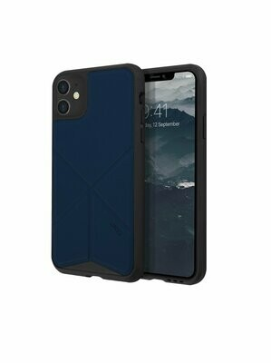 Uniq - iPhone 11 Hoesje stand up blauw