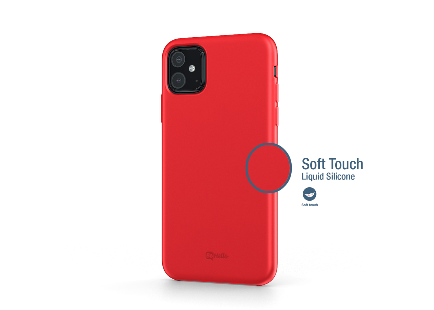 Be Hello iPhone Xs Max (2019) Liquid Silicone Case Rood
