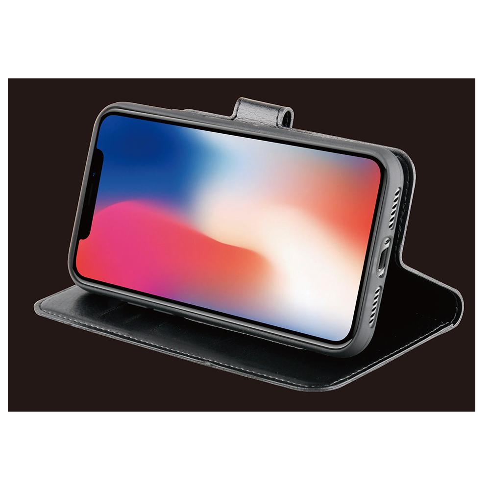 Be Hello iPhone XI Max Gel Wallet Case Black