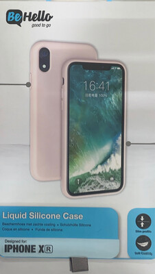 BeHello iPhone Xr Liquid Silicone Case Pink