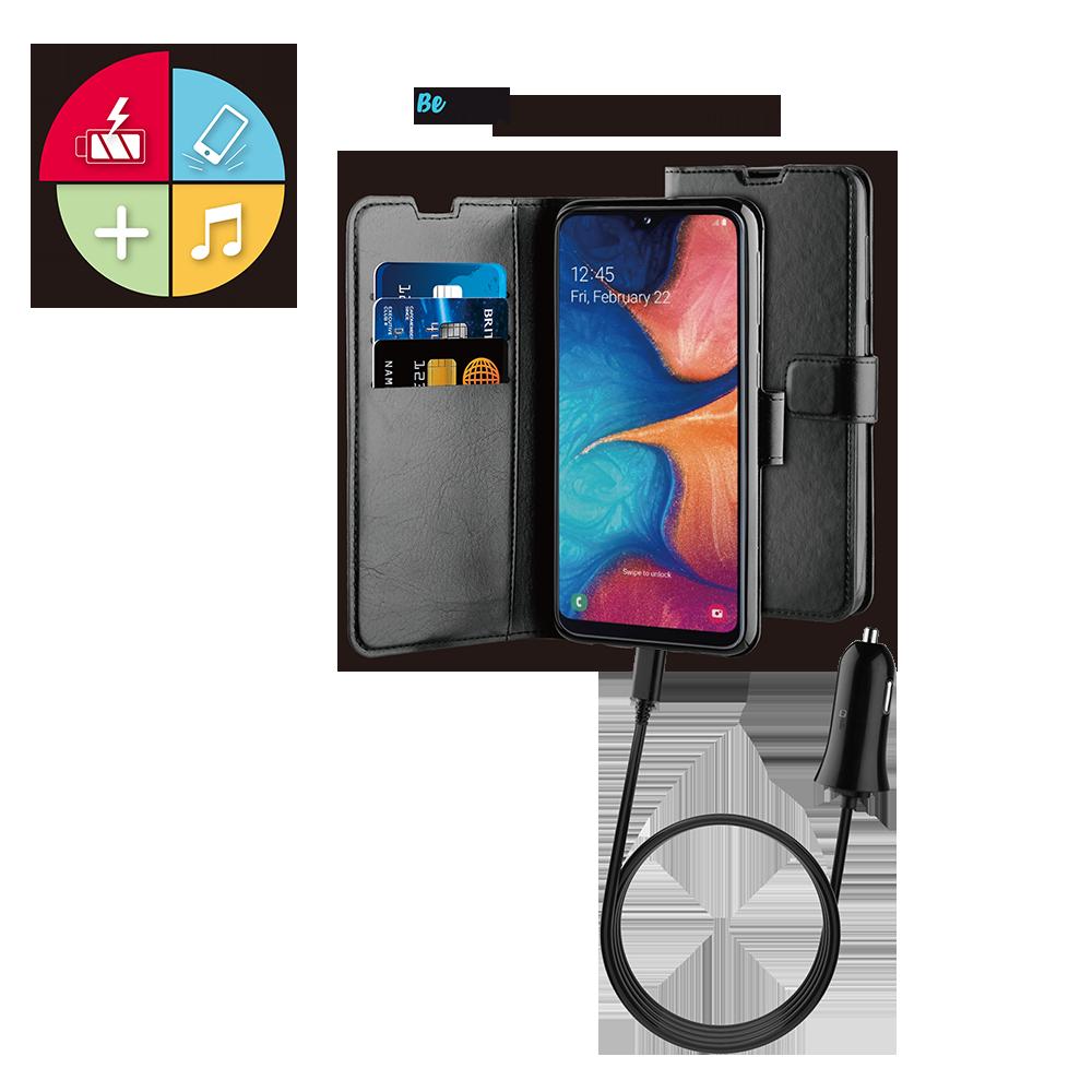 Tas (TEL) Be Hello Galaxy A20E Gel Wallet Case Black