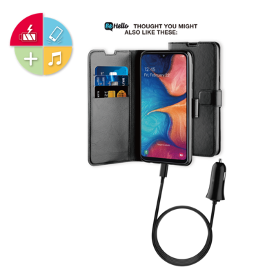 Tas (TEL) Be Hello Galaxy A20E Gel Wallet Case Black
