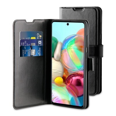 Tas (TEL) Be Hello Galaxy A71 Gel Wallet Case Black