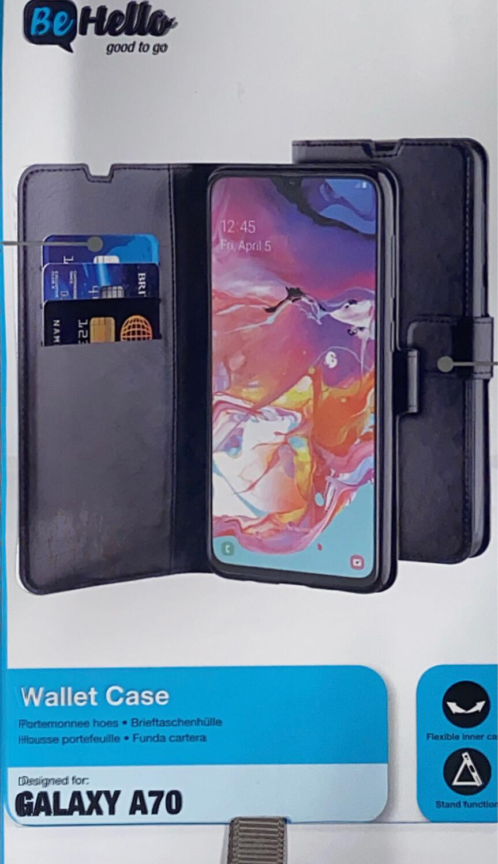 Tas (TEL) Be Hello Galaxy A70 Gel Wallet Case Black