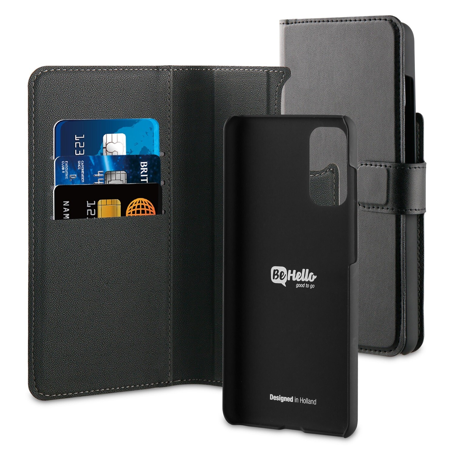 BeHello Samsung Galaxy S20 2-in-1 Wallet Case Black
