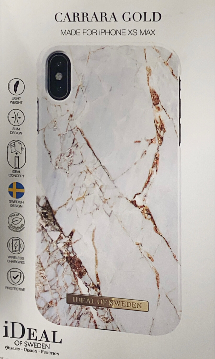 Ideal of Sweden iPhone Xs Max Fashion Back Case Carrara Gold