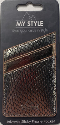 My Style Universal Sticky Card Pocket Gold Snake