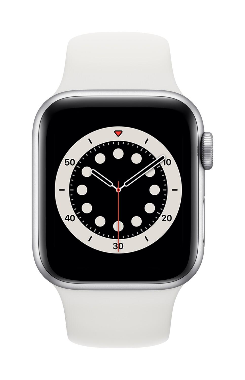 Apple Watch Series 6 GPS, 44mm Zilver Aluminium Case