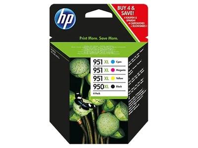 Inkt HP 950XL/951XL Zwart, Cyaan, Magenta, Geel