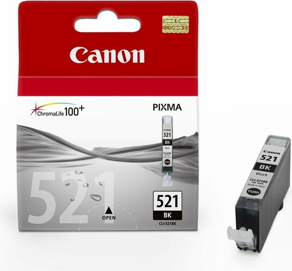 Inkt Canon CLI-521 BK Zwart Foto