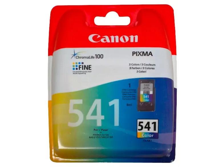 Inkt Canon CL-541 Cyaan, Magenta, Geel
