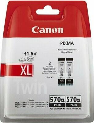 Inkt Canon PGI-570XL PGBK Foto Zwart 2 stuks