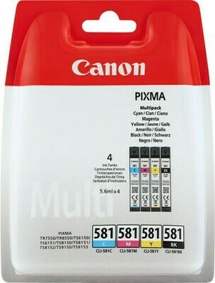 Inkt Canon PGI-580/CLI-581 Vier kleuren