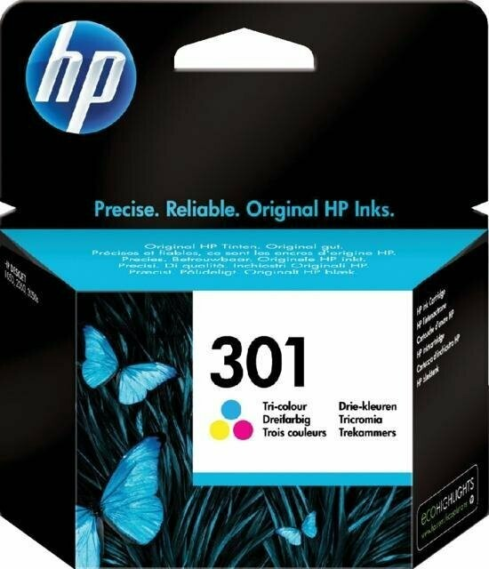 Inkt HP 301 Cyaan, Magenta, Geel
