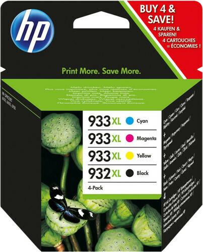 Inkt HP 932XL - 933XL zwart, cyaan, magenta, geel