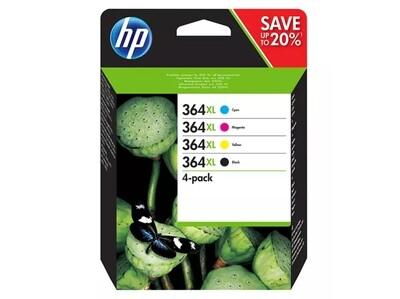 Inkt HP 364XL Zwart, Cyaan, Magenta, Geel