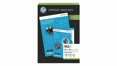 Inkt HP 953XL Cyaan, Magenta, Geel