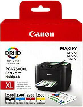 Inkt Canon PGI-2500XL Zwart, Cyaan, Magenta, Geel