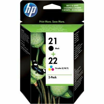 Inkt HP 21+22 Zwart, Cyaan, Magenta, Geel