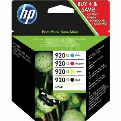 Inkt HP 920XL Zwart, Cyaan, Magenta, Geel