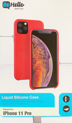 Be Hello iPhone XI Liquid Silicone Case Red