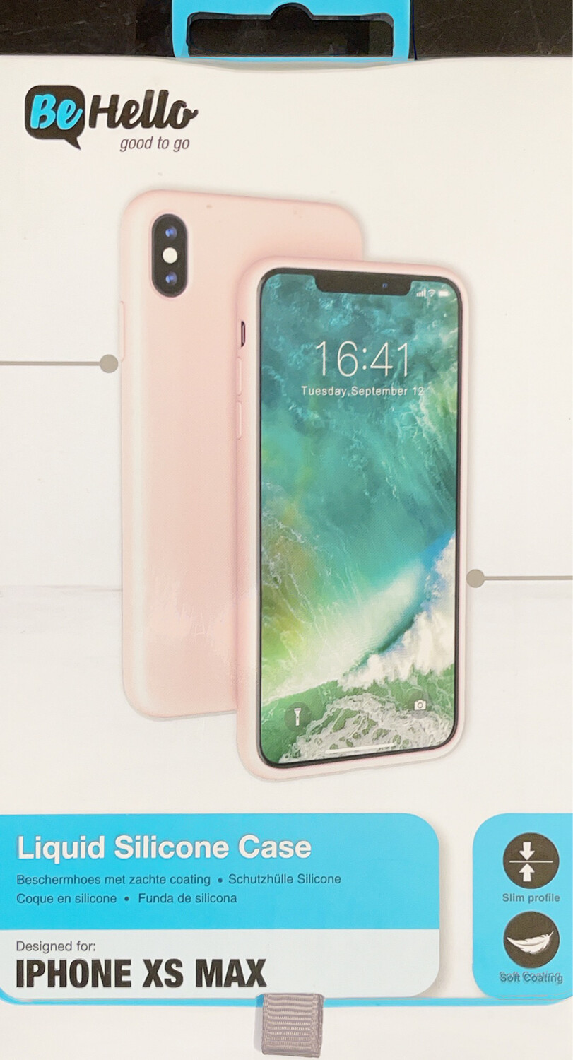 Cover Be Hello iPhone X+ Liquid Silicon Case Pink