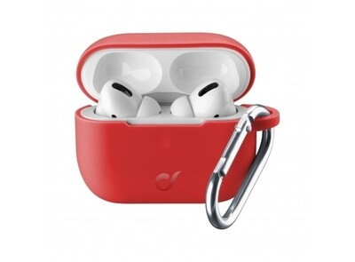 Tas (MM) Cellular Line Airpods 2/1, hoesje bounce pro, rood