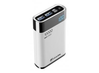 Cellularline - Draagbare lader manta HD MFI 10000mAh, wit