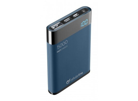 Cellularline - Draagbare lader manta HD 5000mAh, blauw