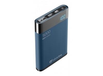 Cellularline - Draagbare lader manta HD 5000mAh, blauw