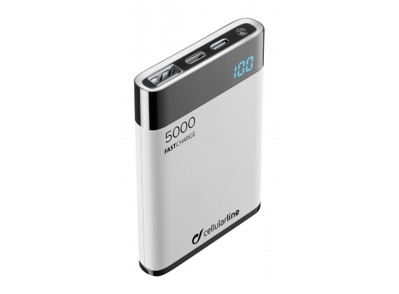 Cellularline - Draagbare lader manta HD MFI 5000mAh, wit