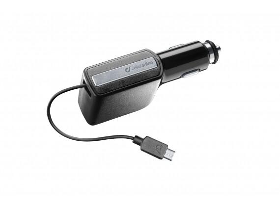 Cellular Line Autolader Oprolbaar 10W/2A Micro USB