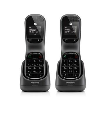 Telefoon Draagbaar Motorola TD1002 zwart