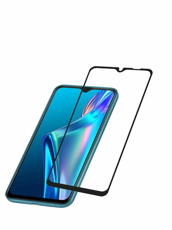 Samsung Galaxy A12 gehard glas, zwart