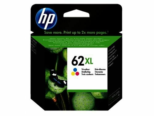Inkt HP 62 XL Cyaan, Magenta, Geel
