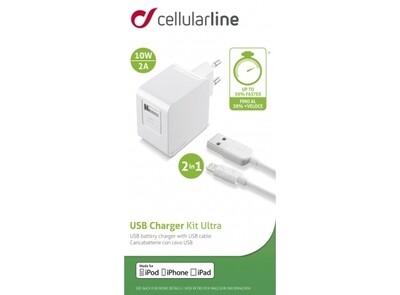 Cellular Line Lightning USB Charger Kit Ultra