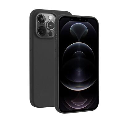 iPhone 13 Pro Liquid Silicone Hoesje Zwart