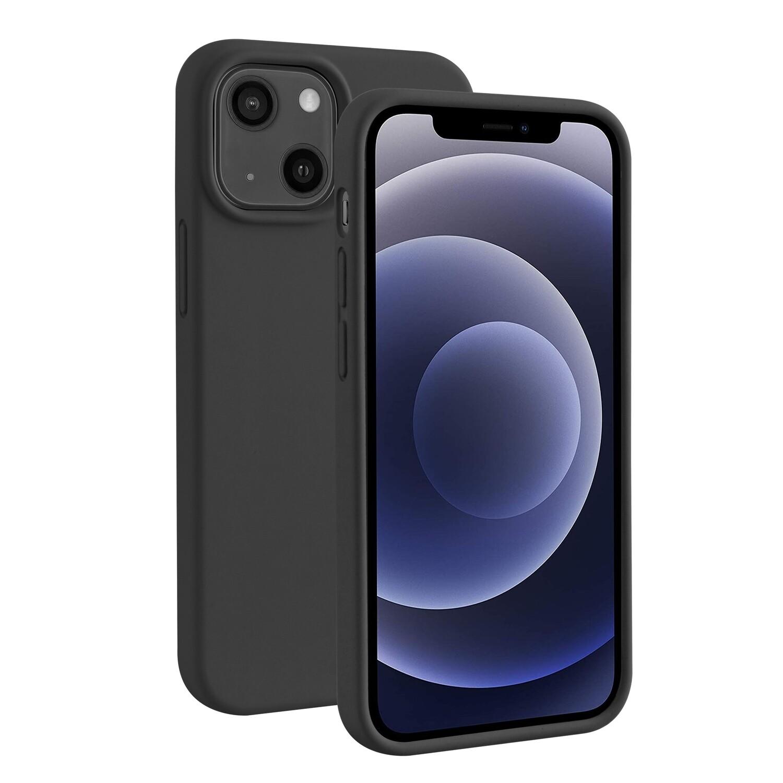 iPhone 13 mini Liquid Silicone Hoesje Zwart