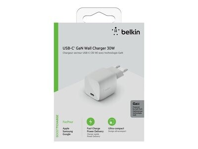 30W USB-C Charger GaN WHT