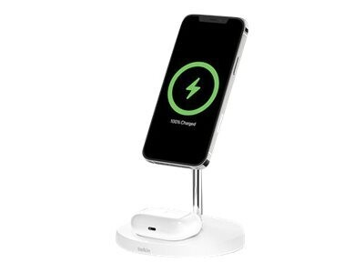 Boost Charge Pro MagSafe 2-in-1 Wireless Charger Stand - White