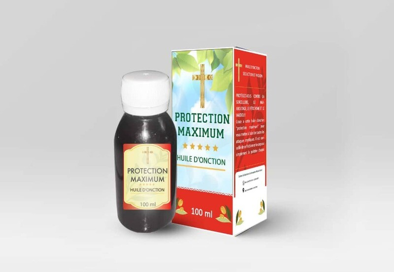 Huile d'onction protection  maxximum