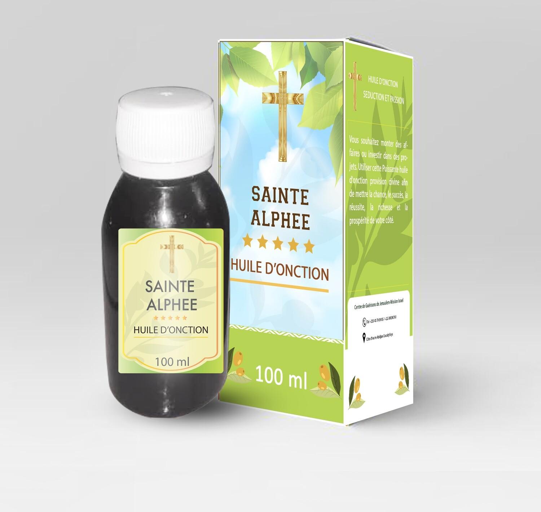 Huile d'onction Sainte Alphee