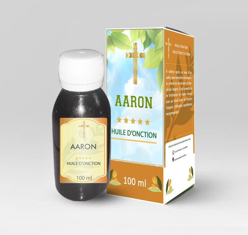 Huile d'onction ''AARON''