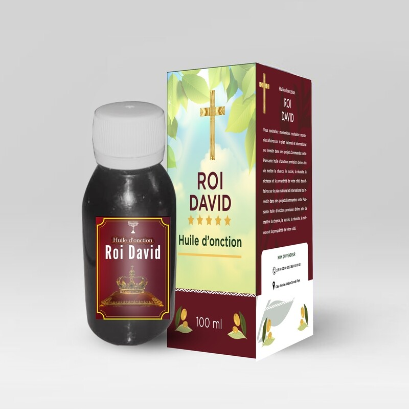 Huile d'onction Roi David
