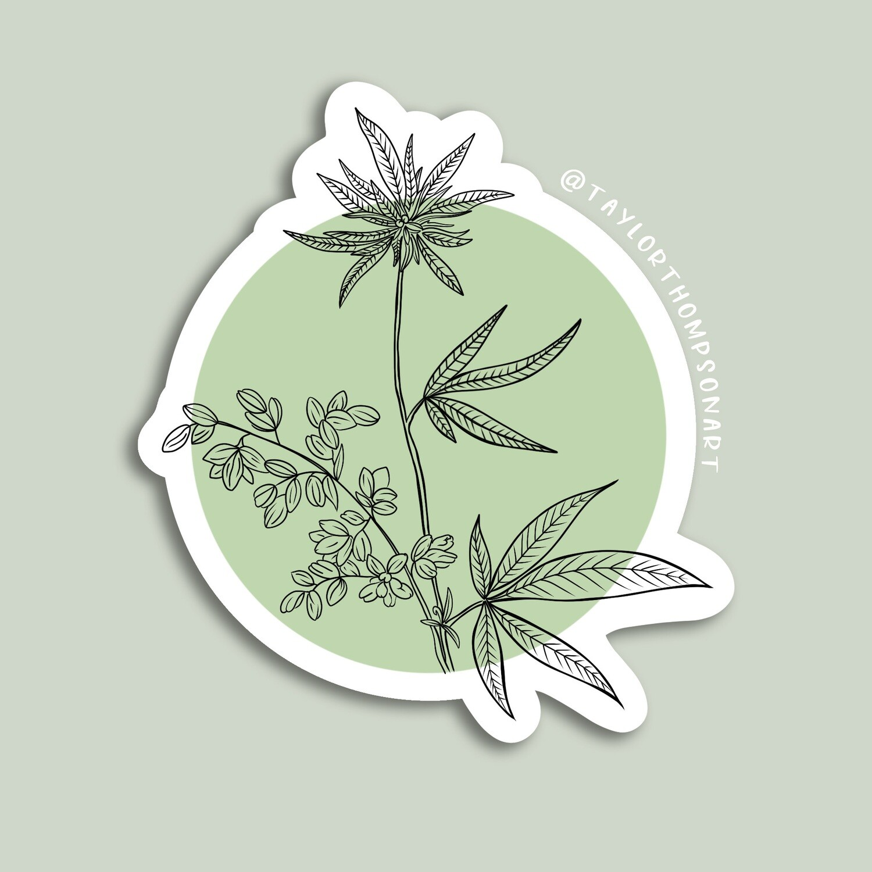 Botanical Bud Sticker